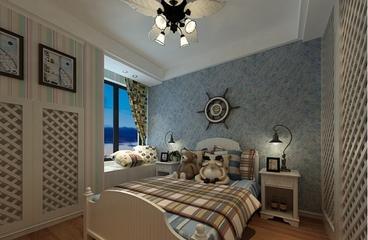 76平地中海效果图欣赏卧室效果