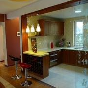 开放式厨房吧台效果图