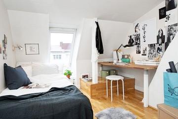 42平宜家白色一居室欣赏卧室