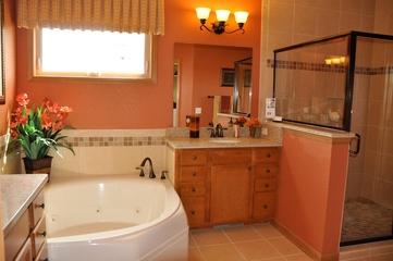 美式别墅风格效果图主卫浴柜