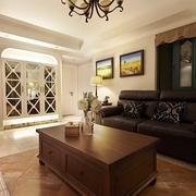 98平美式稳重住宅欣赏客厅摆件