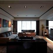 简约暗黑设计效果图欣赏客厅