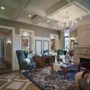 美式风格装修效果图设计客厅