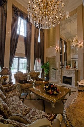 300平豪华法式别墅欣赏客厅