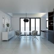 白色现代风格设计案例欣赏餐厅陈设
