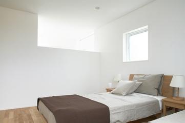144平日式风格别墅欣赏卧室