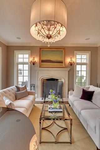 美式风格别墅二楼客厅装修效果图
