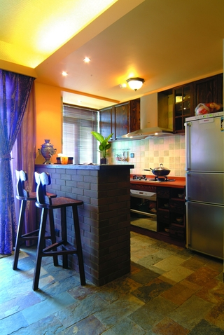 东南亚效果图厨房