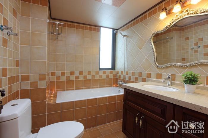 美式风三居室案例欣赏卫生间吊顶设计