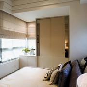 现代简约公寓卧室全景效果图