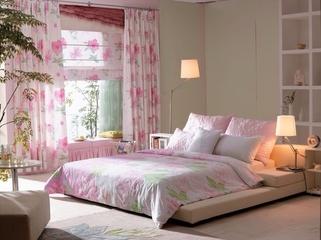 简约春天气息住宅欣赏卧室窗帘