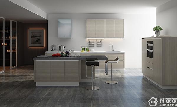 选风格,挑电器,再定做,三步解决一体化厨房装修
