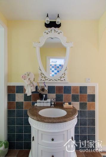清新田园卫生间浴室柜装修效果图