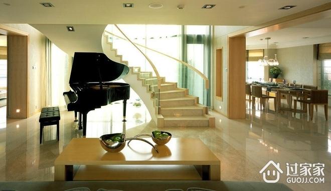 168平现代复式楼欣赏楼梯间