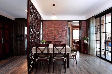 93平美式风格住宅欣赏餐厅