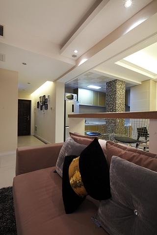 95平简约三室两厅欣赏客厅效果图