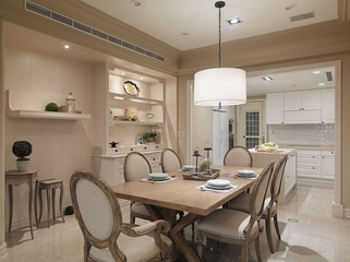 浪漫美式餐厅餐桌装修效果图 80后小伙的家