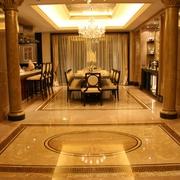 欧式新古典风餐厅地板设计