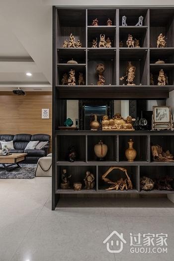 98平现代两居室住宅欣赏过道博古架