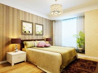 93平温馨东南亚风格住宅欣赏卧室效果