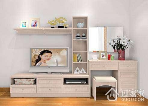 欧式风格的梳妆台电视柜通常是以实木为材料