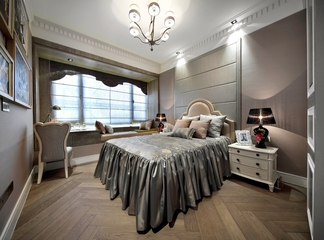 新古典样板房三居室欣赏卧室吊顶