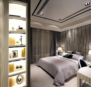 新古典样板房套图卧室全景设计