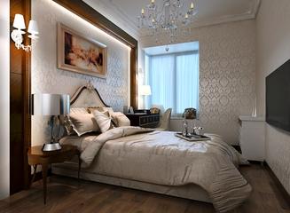 224平典雅欧式别墅欣赏卧室