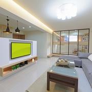 93平优雅日式风格欣赏客厅