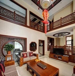 中式优雅复式住宅欣赏