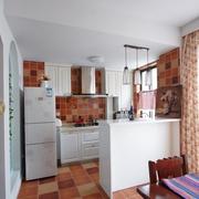 开放式厨房隔断装修图 浪漫美式乡村风