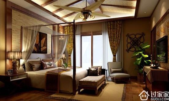 2018年最流行的东南亚风格硅藻泥卧室效果图鉴赏