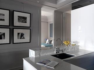 简欧白色效果图欣赏厨房