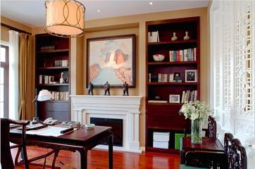 240平新中式别墅欣赏书房设计