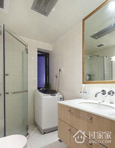 82平现代婚房两居室欣赏卫生间吊顶