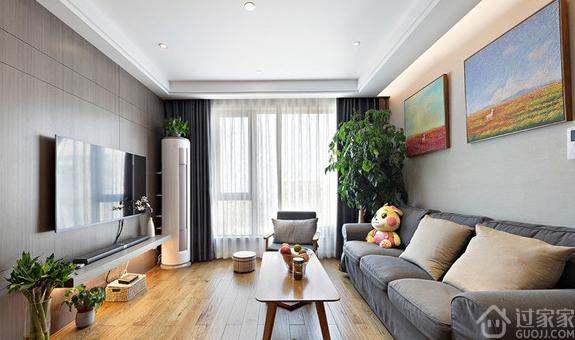 91平的简约风格,客厅的装饰画布置得好漂亮
