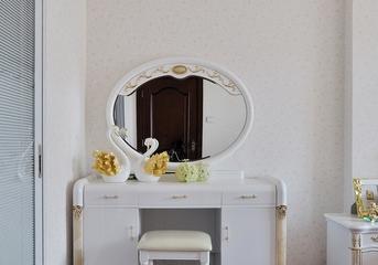 118平白色简欧住宅欣赏卧室梳妆台