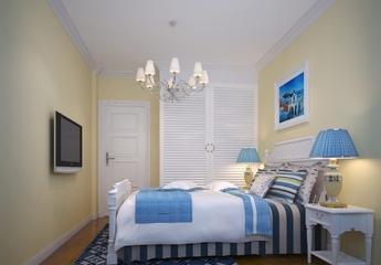 77平地中海两居室欣赏卧室