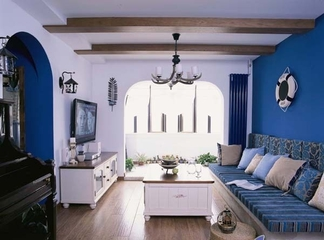 蓝色地中海住宅设计欣赏