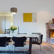 简约白色老公寓改造欣赏餐厅
