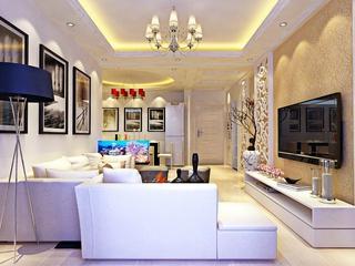 简欧客厅灯饰装修效果图 给你一个极美的家