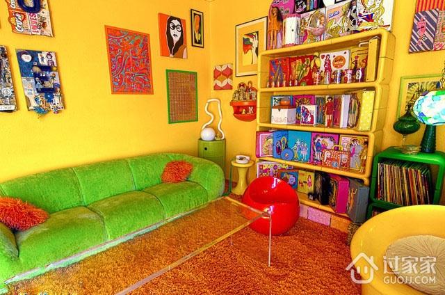 时尚彩色简约住宅欣赏客厅全景
