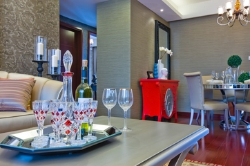 典雅法式装饰住宅欣赏客厅陈设