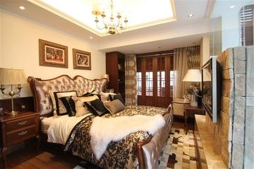 咖啡色欧式样板房欣赏卧室