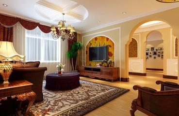 异域风情混搭风格住宅欣赏客厅全景