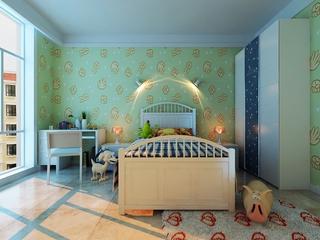 简约舒适三居室设计欣赏卧室局部