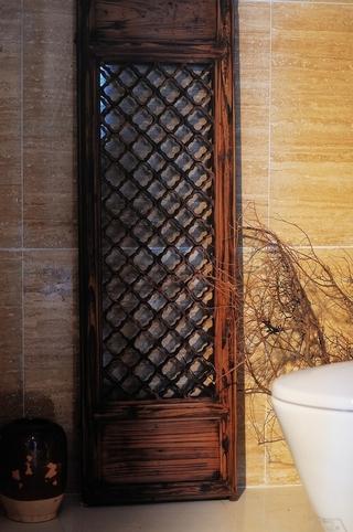 中式传统风住宅欣赏卫生间背景墙