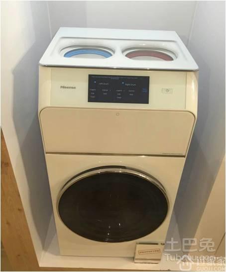"""海信""""一机三筒""""洗衣机亮相 迅速引发全球关注"""
