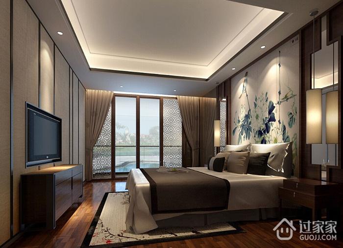 水墨丹青现代风三居室欣赏卧室电视柜