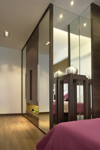 新中式效果图欣赏卧室局部